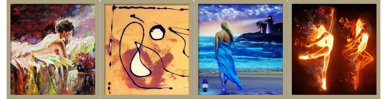 Αφηρημένοι & φαντασία ,πίνακες σε καμβά