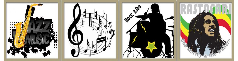 Μουσική , αυτοκόλλητα τοίχου