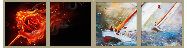 Δίπτυχοι πίνακες σε καμβά