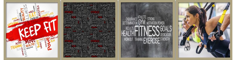 Γυμναστήρια , Fitness club , αυτοκόλλητα , πίνακες , ταπετσαρίες
