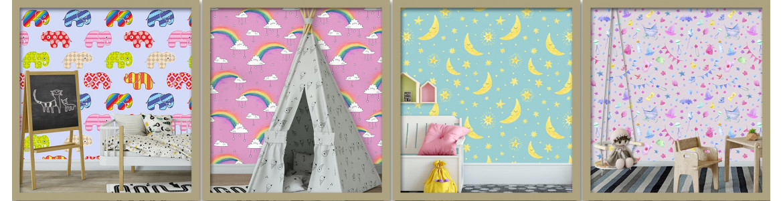 Ταπετσαρίες τοίχου παιδικές με μοτίβα