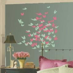 Αυτοκόλλητο τοίχου, Πεταλούδες