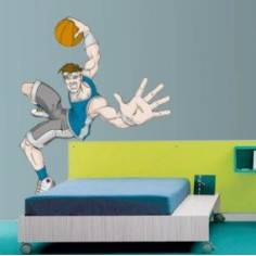 Αυτοκόλλητο τοίχου, Μπάσκετ Κάρφωμα style 2