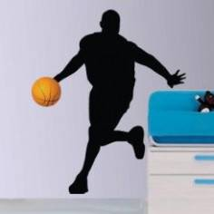 Αυτοκόλλητο τοίχου, Μπασκετμπολίστας 1