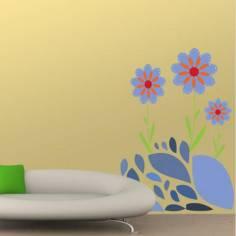 Αυτοκόλλητα τοίχου, Μωβ Λουλούδια