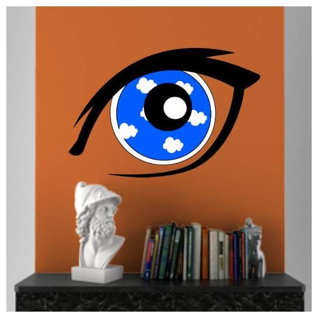 Συννεφιασμένη ματιά, αυτοκόλλητο τοίχου