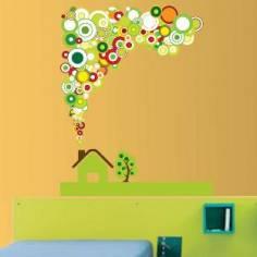 Πράσινο Σπίτι, αυτοκόλλητο τοίχου