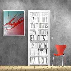 Λευκή βιβλιοθήκη, αυτοκόλλητο πόρτας
