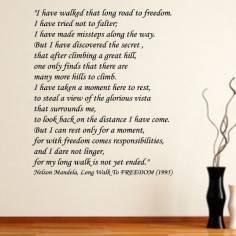 Walk of freedom,Nelson Mandela , αυτοκόλλητο τοίχου