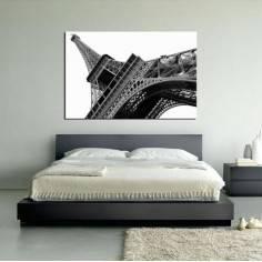 Πύργος του Άιφελ, B&W, πίνακας σε καμβά