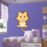 Χαριτωμένη Γάτα |Αυτοκόλλητο τοίχου