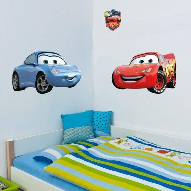 Lightning McQueen και Σάλυ, αυτοκόλλητο , τοίχου Disney