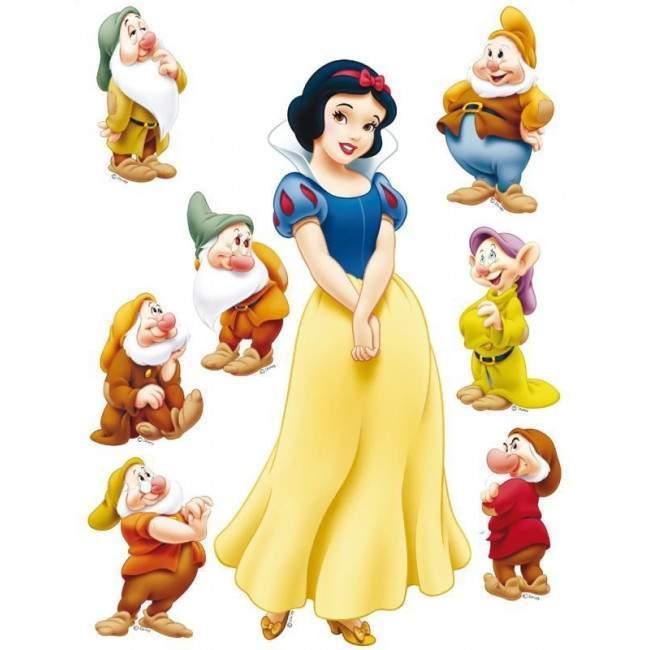 Η Χιονάτη και οι επτά νάνοι, αυτοκόλλητο τοίχου Disney