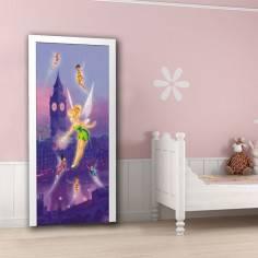 Tinkerbell , νεράϊδες Disney, ταπετσαρία πόρτας , ντουλάπας , τοίχου