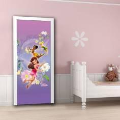 Tinkerbell , νεράϊδες Disney 2, ταπετσαρία πόρτας , ντουλάπας , τοίχου