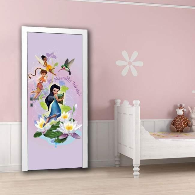 Tinkerbell , νεράϊδες Disney 3, ταπετσαρία πόρτας , ντουλάπας , τοίχου