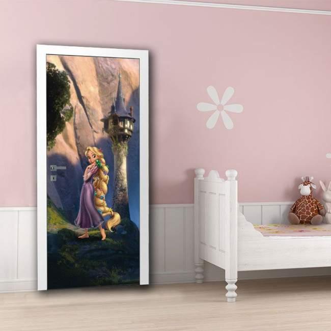 Ραπουνζέλ , ταπετσαρία πόρτας , ντουλάπας , τοίχου