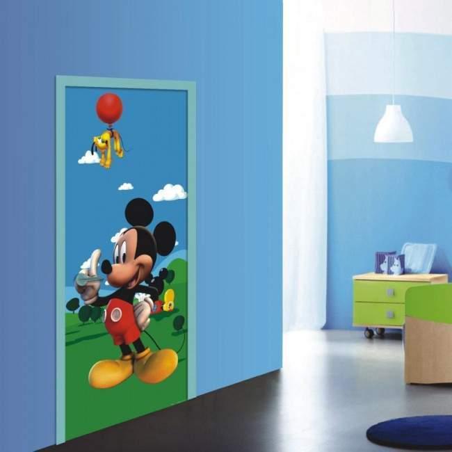 Μίκυ Μάους και Πλούτο , ταπετσαρία πόρτας , ντουλάπας , τοίχου