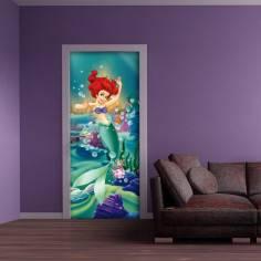 Άριελ η γοργόνα , ταπετσαρία πόρτας , ντουλάπας , τοίχου