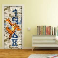 Ο Τίγρης ταξιδεύει , ταπετσαρία πόρτας , ντουλάπας , τοίχου
