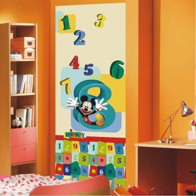 Ο Μίκυ και οι αριθμοίι , ταπετσαρία πόρτας , ντουλάπας , τοίχου