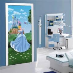 Σταχτοπούτα (Cinderella) , πριγκίπισσα Disney, ταπετσαρία πόρτας , ντουλάπας , τοίχου