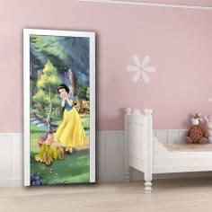 Η Πεντάμορφη ( Belle) , πριγκίπισσα Disney, ταπετσαρία πόρτας , ντουλάπας , τοίχου