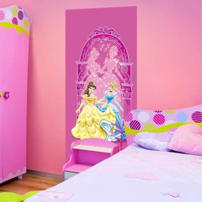 Οι πριγκίπισσες γιορτάζουν Disney, ταπετσαρία πόρτας , ντουλάπας , τοίχου