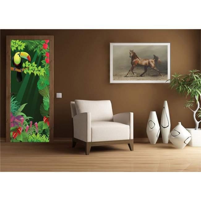 Jungle entrance ,αυτοκόλλητο πόρτας, ντουλάπας