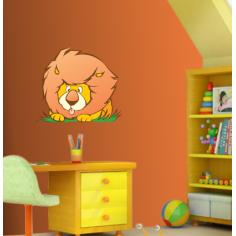 Αυτοκόλλητα τοίχου παιδικά, Αστείο Λιοντάρι