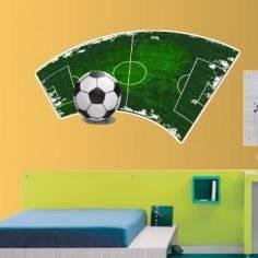 Μοντέρνα εικόνα ποδοσφαιρικού γηπέδου,αυτοκόλλητο τοίχου