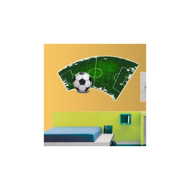 Μοντέρνα εικόνα ποδοσφαιρικού γηπέδου | Αυτοκόλλητο τοίχου