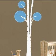 Design tree, λευκό - γαλάζιο, αυτοκόλλητο τοίχου