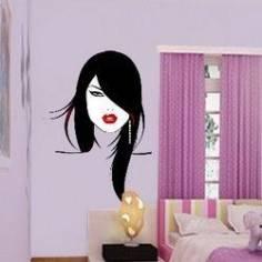Φιγούρα γυναικείου προσώπου Αυτοκόλλητο τοίχου