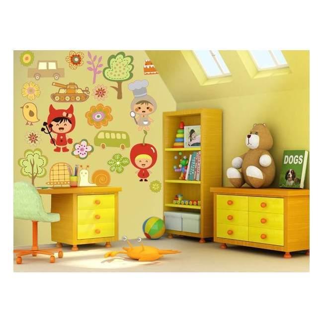Mini συλλογή, Παιδικά, Σετ 3, αυτοκόλλητο τοίχου