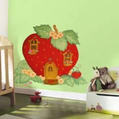 Φραουλόσπιτο, Αυτοκόλλητο τοίχου