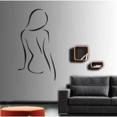 Γυνακεία σιλουέτα , Αυτοκόλλητο τοίχου