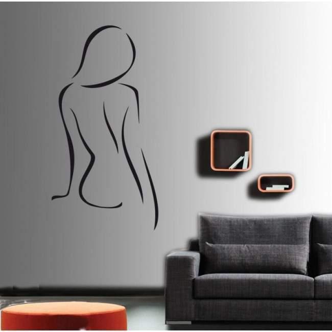Γυνακεία σιλουέτα 1 , Αυτοκόλλητο τοίχου
