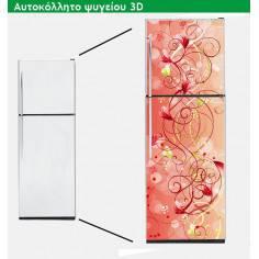 Floral ροζ, αυτοκόλλητο ψυγείου
