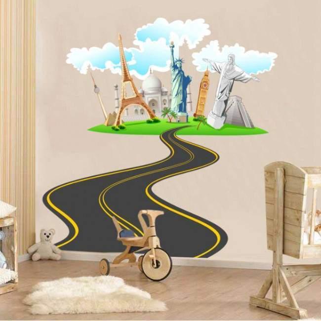 Ο δρόμος για τον κόσμο, αυτοκόλλητο τοίχου