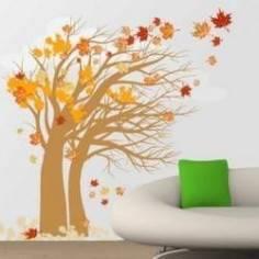 Φθινοπωρινό δέντρο , αυτοκόλλητο τοίχου