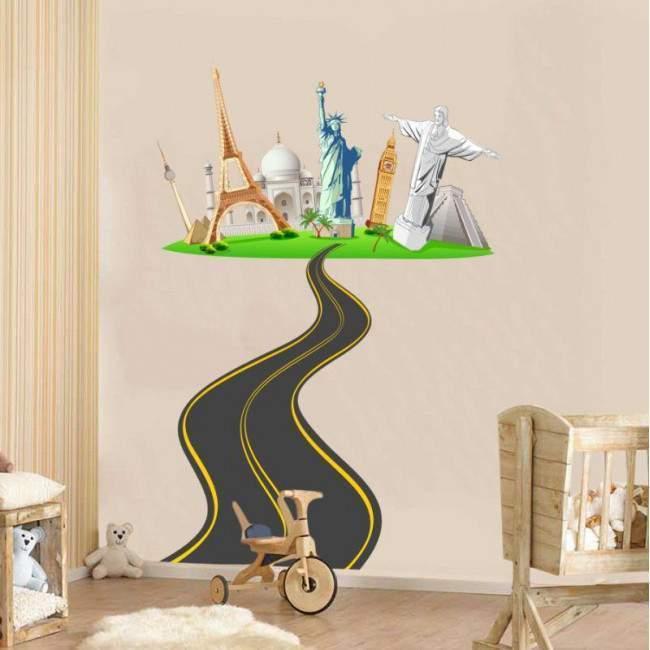 Ο δρόμος για τον κόσμο 2, αυτοκόλλητο τοίχου