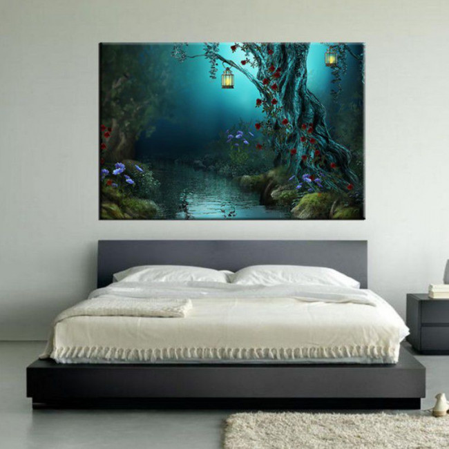 Mystery river, πίνακας σε καμβά