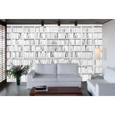 Λευκή βιβλιοθήκη II, φωτογραφική ταπετσαρία