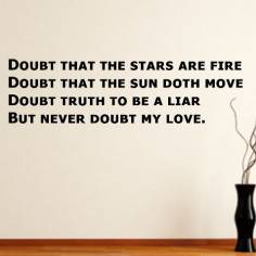Doubt... but not for my love , αυτοκόλλητο τοίχου