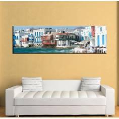 Mykonos Little Venice, πανοραμικός πίνακας σε καμβά