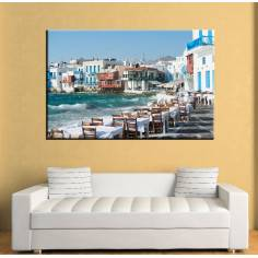 Mykonos Little Venice, πίνακας σε καμβά