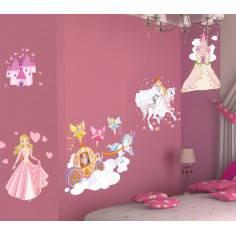 Αυτοκόλλητα τοίχου παιδικά, πριγκίπισσα, νεράιδες, κάστρο, πρίγκιπας, Πριγκίπισσα και η μαγική περιπέτεια