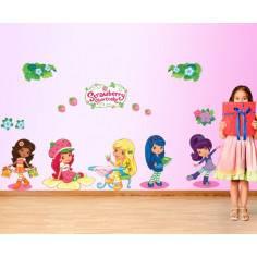Η Φραουλίτσα και οι φίλες της, παράσταση σε αυτοκόλλητα τοίχου