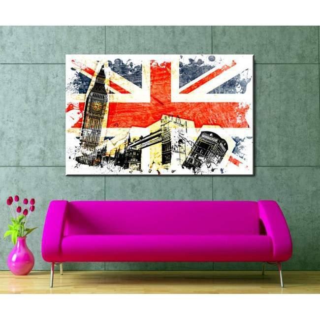 Λονδίνο artwork, πίνακας σε καμβά